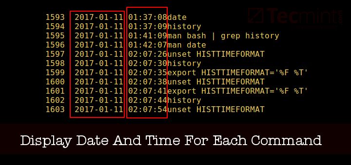 Show Date and Time for Each Command in History