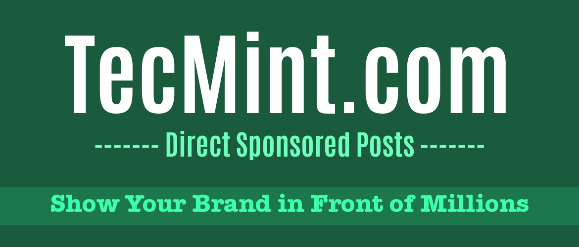 Sponsored Posts TecMint