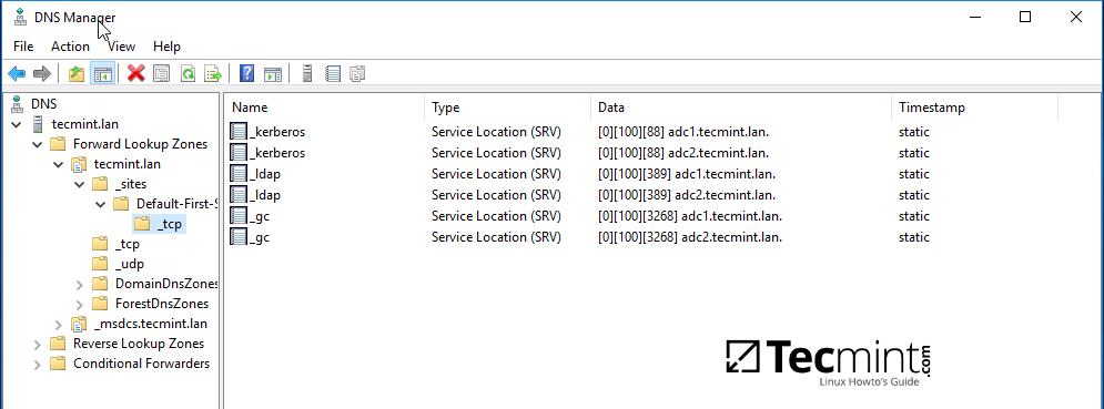 Verify DNS Records on Windows RSAT Tool