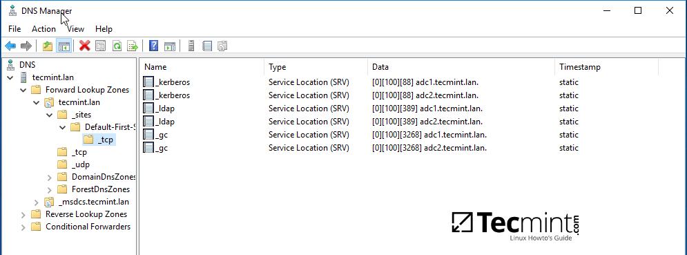 Verify DNS Records on Windows RSAT Tool