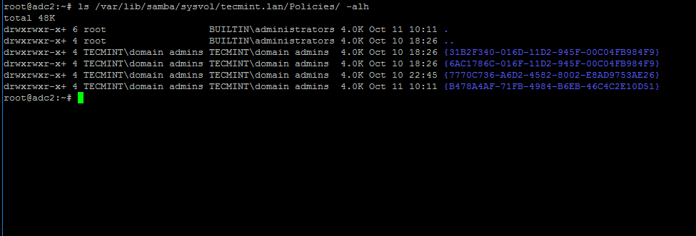 Verify Samba4 DC SysVol Replication