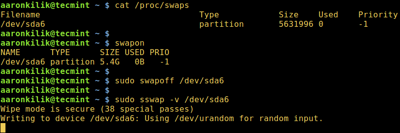 sswap - Secure Swap Wiper