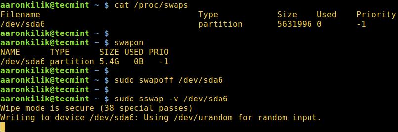 sswap - Secure Swap Wiper