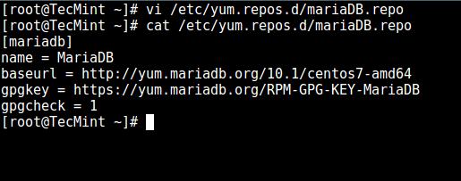 Add MariaDB Yum Repo