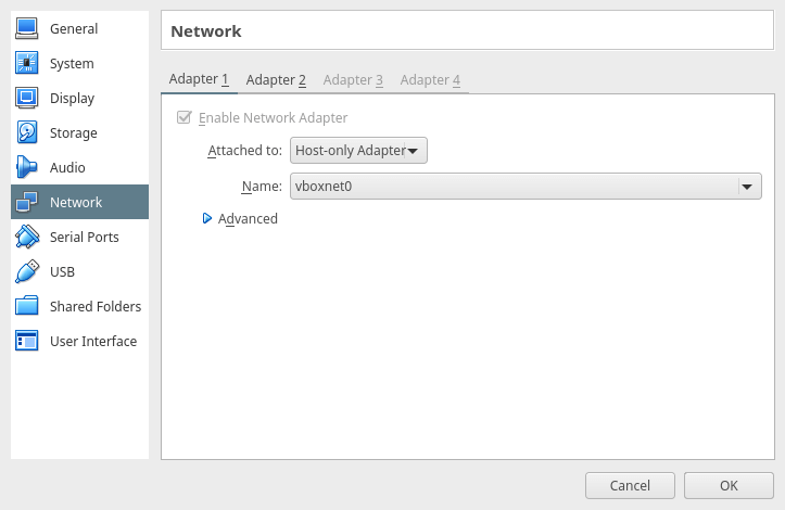 Enable Network Adapter for Guest VM