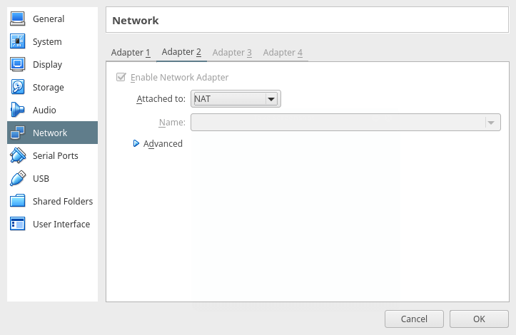 Enable Network Adapter for VM
