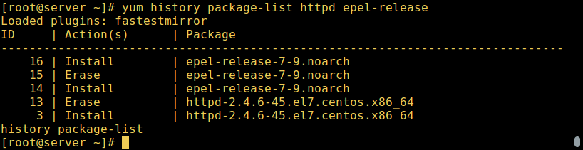 Yum - Find Multiple Packages Info