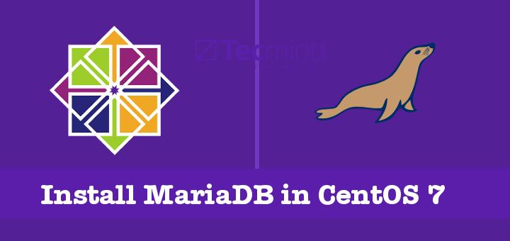 Install MariaDB in CentOS 7