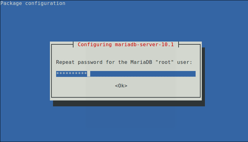 Repeat MariaDB Password