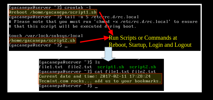 Auto Execute Scripts During Reboot in Linux