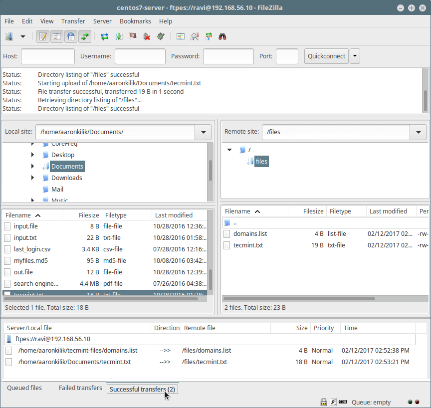Transfer Files Securely Using FTP