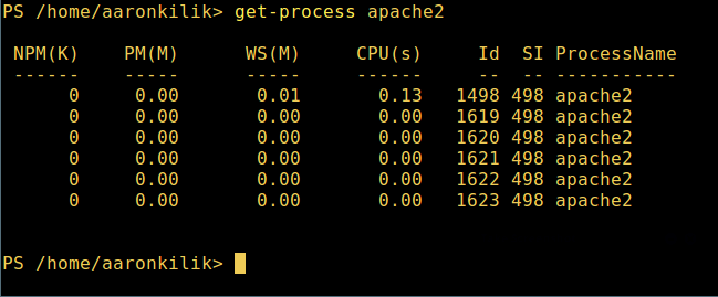 View Specific Process in Powershell