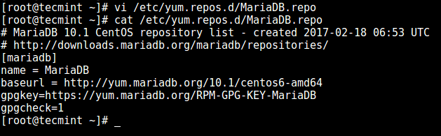 Add MariaD Repository in CentOS 6