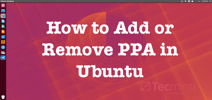 Add or Remove PPA in Ubuntu