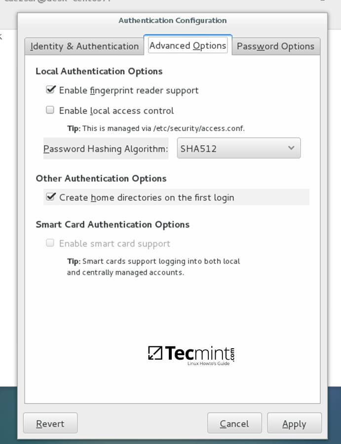 Authentication Advance Configuration