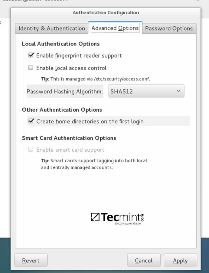 Authentication Advance Configuration
