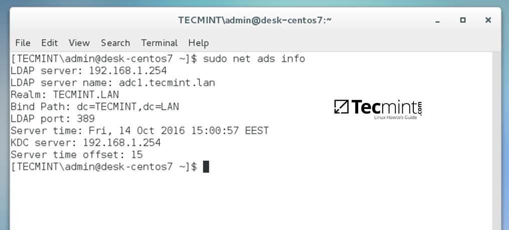Check Domain Controller Info