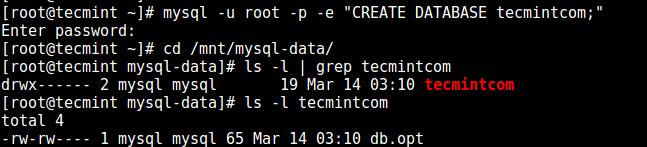 Check MySQL New Data Directory