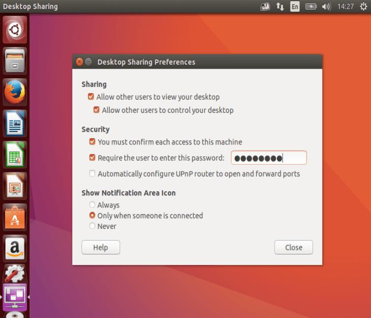 Configure Desktop Sharing Set