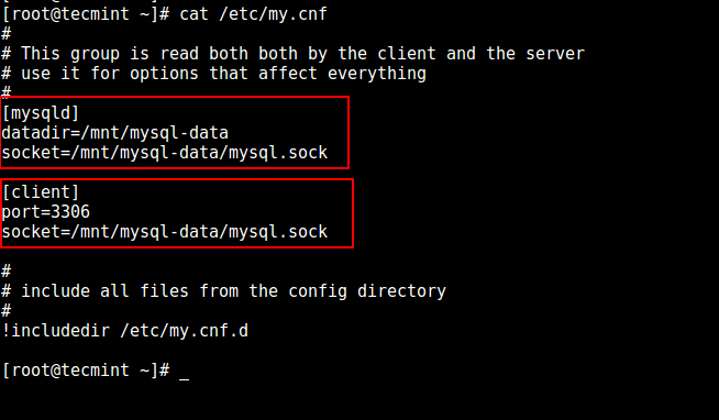 Configure New MySQL Data Directory