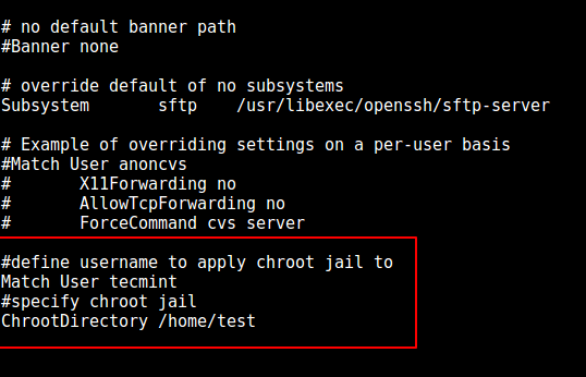 Configure SSH Chroot Jail