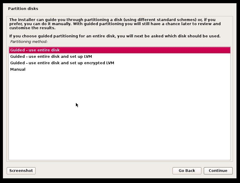 Devuan Linux Partitioning