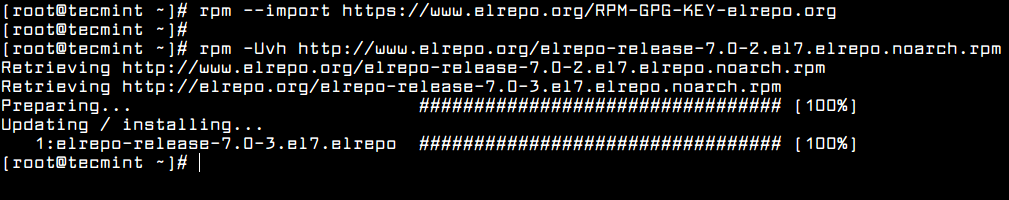 Enable ELRepo in CentOS 7