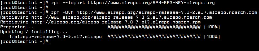 Enable ELRepo in CentOS 7