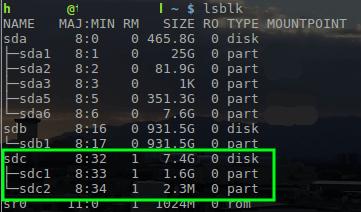 Buscar el nombre del dispositivo en Linux