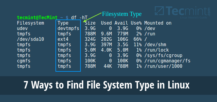 Find File System Type in Linux
