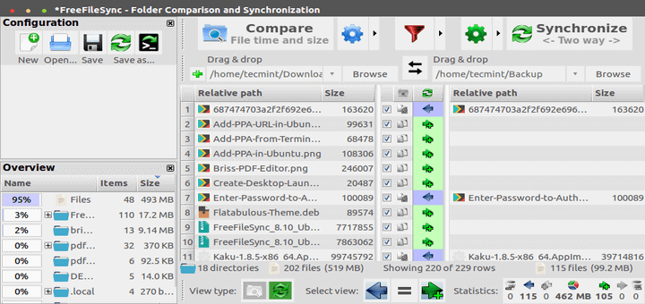FreeFileSync – Compare and Synchronize Files in Ubuntu