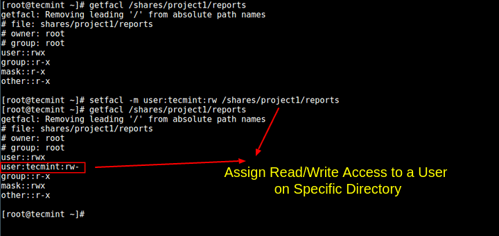 Assign Read/Write Access to Directory in Linux