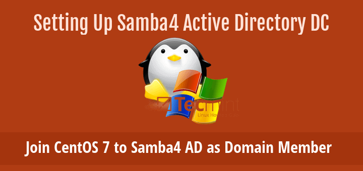 Join CentOS 7 to Samba4 Active Directory