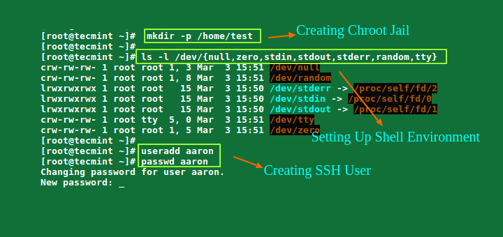 Restrict SSH User Access to Certain Directory Using Chrooted