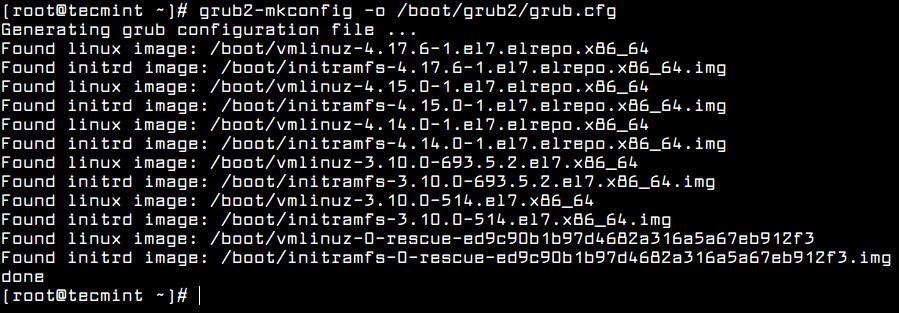 Set Default Kernel Version in Grub