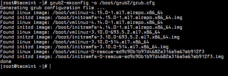 Set Kernel in GRUB