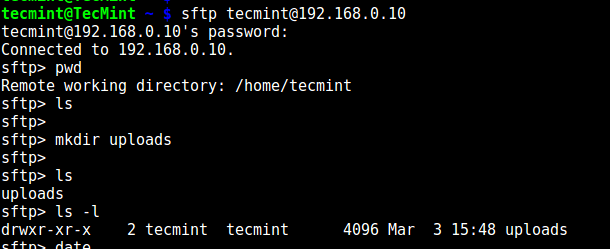 Testing sFTP SSH User