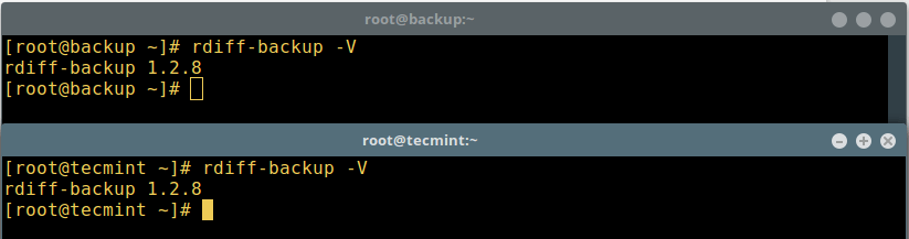 Check rdiff Version on Servers