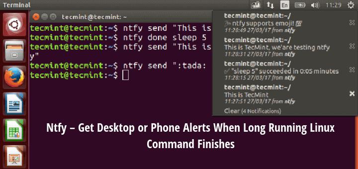 Get Linux Command Desktop Notifications