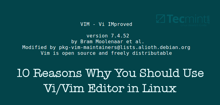 Reasons to Learn Vi and Vim Editor