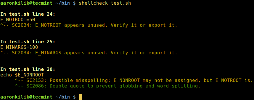 ShellCheck - Checks Bad Code in Shell Scripts