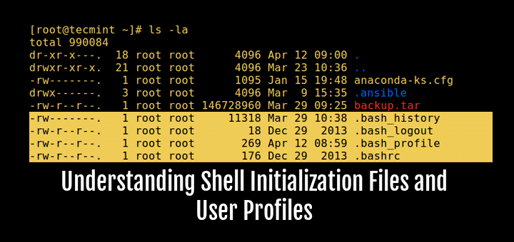 Understanding Shell Initialization Files and User Profiles