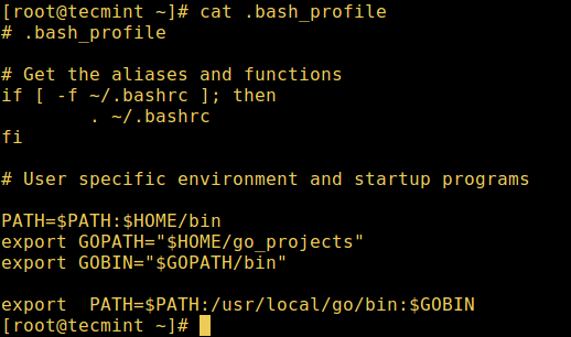 User Bash Profile