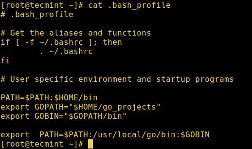 User Bash Profile