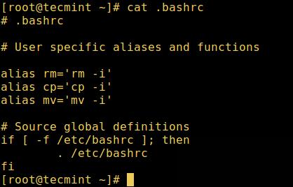 User Bashrc File
