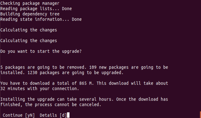 Ubuntu Upgrade Process