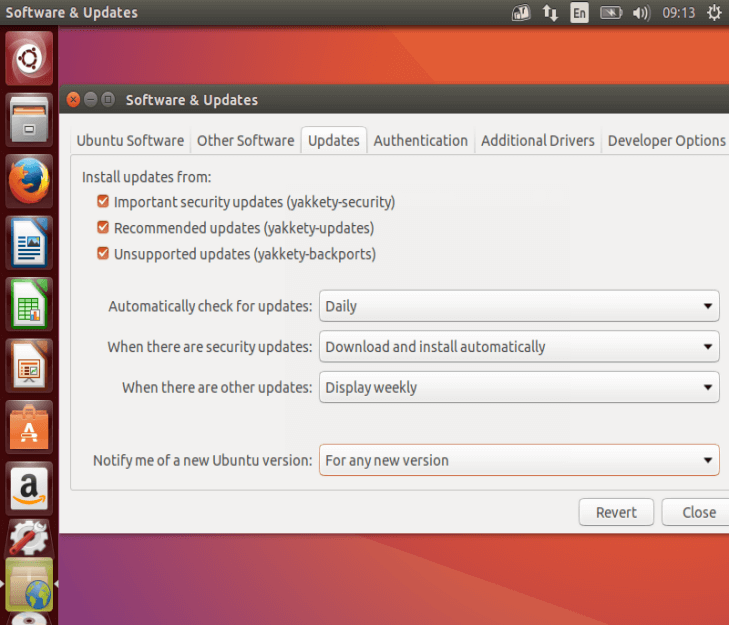 Set Updates for New Ubuntu Version