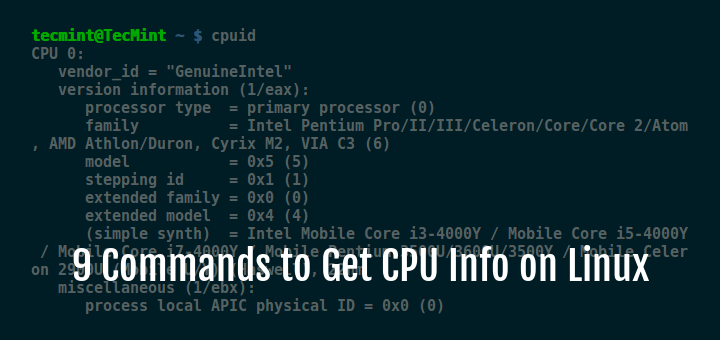 Commands to Check Linux CPU Information