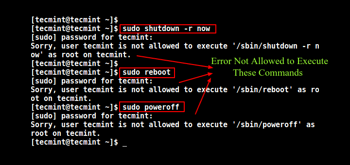 Disable Shutdown and Reboot Commands in Linux