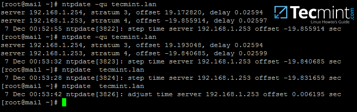 Sync Time with Samba NTP Server